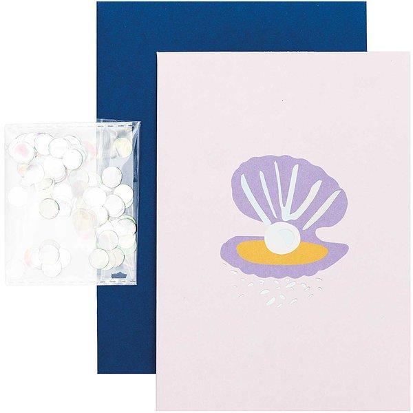 Paper Poetry Grußkartenset Mermaid Muschel