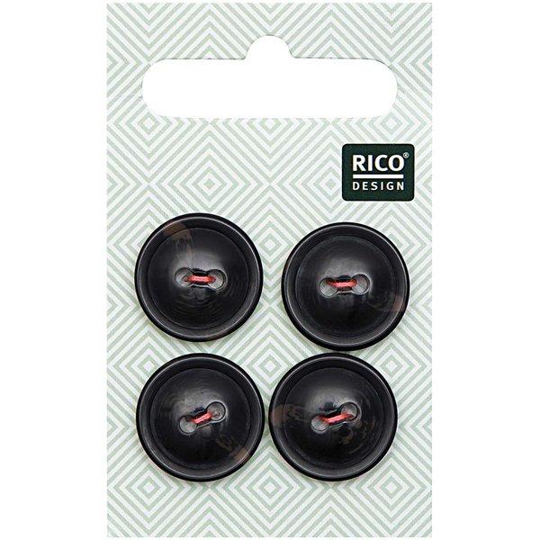 Rico Design Knopf schwarz 1,7cm