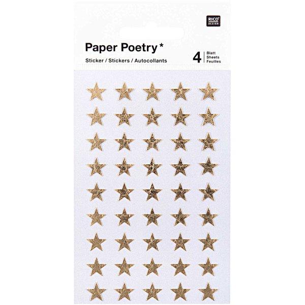 Paper Poetry Sticker Sterne gold 10mm 4 Bogen