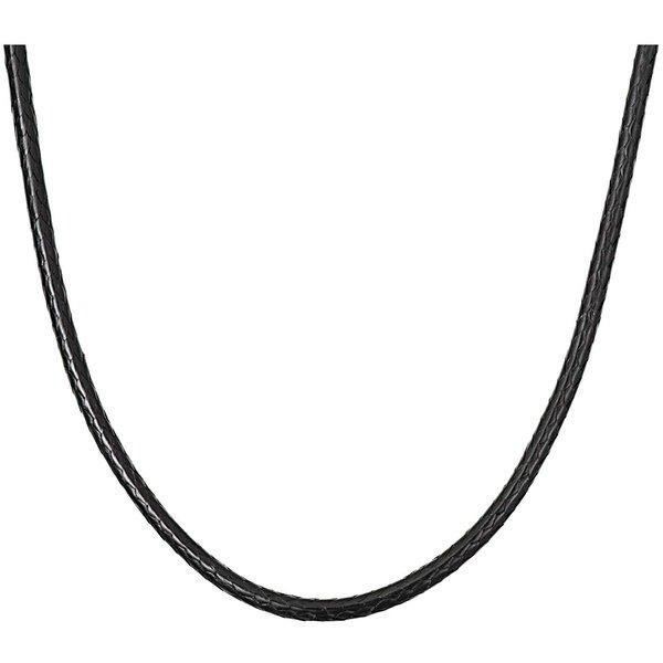 Rico Design Big Charms Kette Lederoptik schwarz 53cm