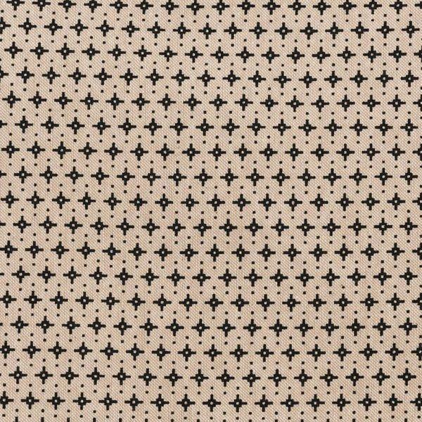 Rico Design Stoff grafische Sterne natur-schwarz 140cm