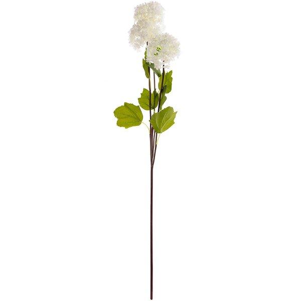 Schneeballzweig mit 3 Blüten weiß 73cm