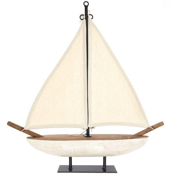 Ohhh! Lovely! Segelboot aus Holz 41,5x47cm