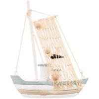Fischerboot 19,5x15,5cm Holz