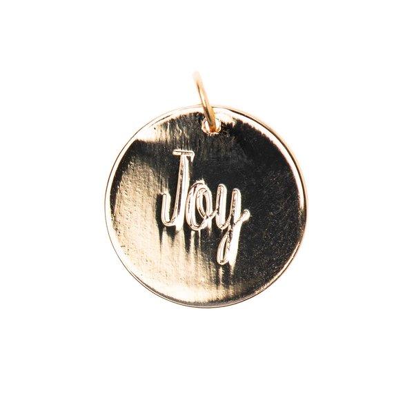 Mix it Up - Jewellery Anhänger Scheibe Joy gold Ø17mm