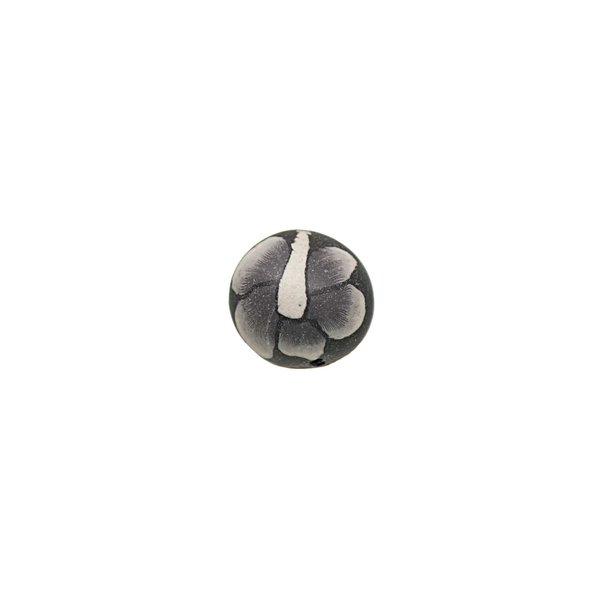Jewellery Made by Me Kugel schwarz gemustert 9mm 8 Stück