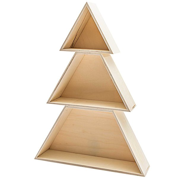 Made by Me Holzboxen-Set Tannenbaum 3teilig
