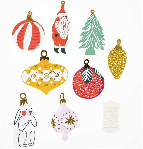 Paper Poetry Papieranhänger Nostalgic Christmas classic 8 Stück