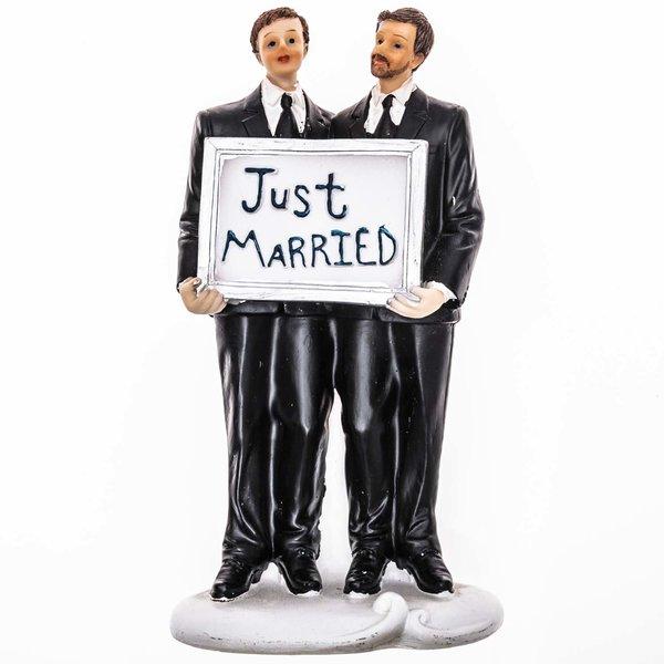 Hochzeitspaar Männer just married 16,2cm