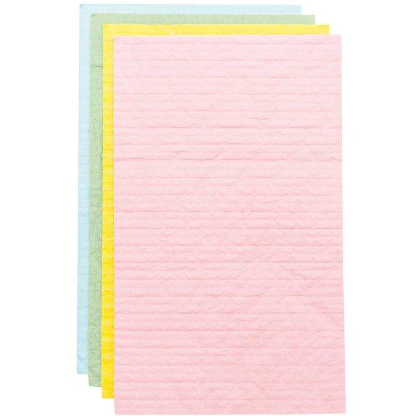 YEY! Let's Party Wabenpapier pastell Mix 20x33cm 4 Bogen