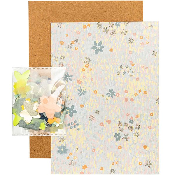 Paper Poetry Grußkartenset Crafted Nature Blumenwiese blau