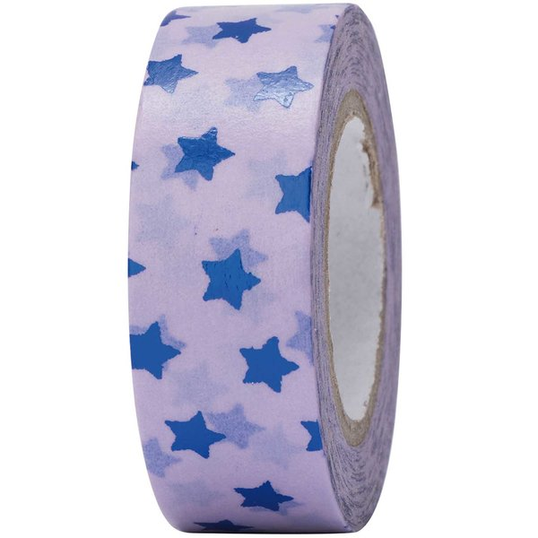 Paper Poetry Tape Sterne blau 15mm 10m Hot Foil