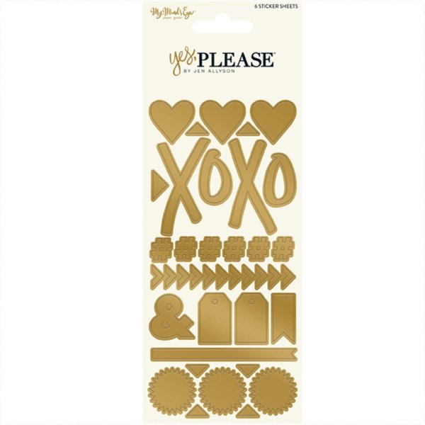 MyMindsEye Yes, please - Alpha/Word Sticker Set