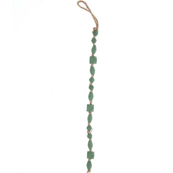 Holzgirlande grau-grün 45cm