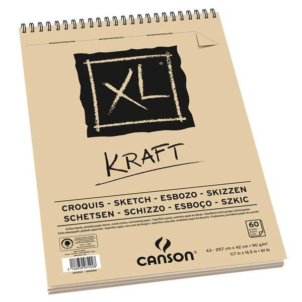 Canson XL Spiralblock Kraft A3 60 Blatt