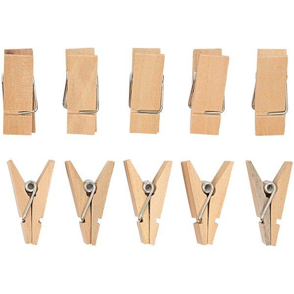 Rico Design Dreiecksklammern natur 3,5cm 10 Stück