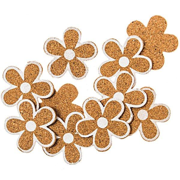 Streu Blüten 4,5cm 18 Stück Kork