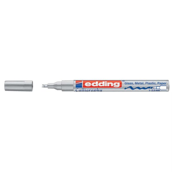edding 753 calligraphy paintmarker silber 1-2,5mm