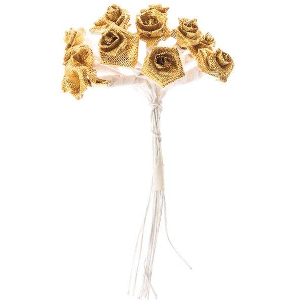 Dior Röschen Hochzeit gold 12 Stück
