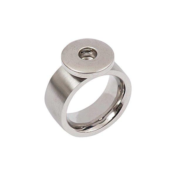 Rico Design Ring bombiert Edelstahl 16mm