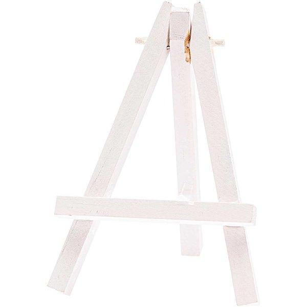 Mini-Staffelei weiß 11,5cm 2 Stück