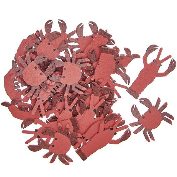 Ohhh! Lovely! Holzstreu Meerestiere rot 36 Stück