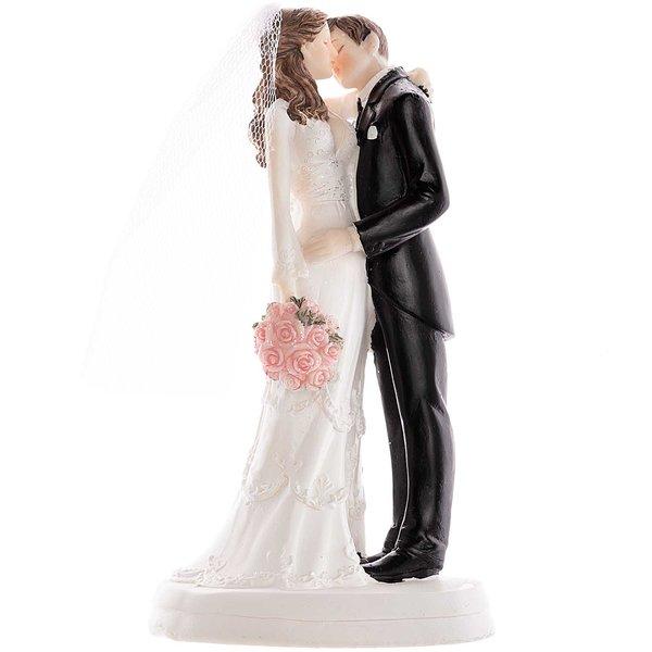 Brautpaar küssend 18cm