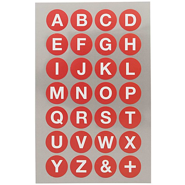 Paper Poetry Office Sticker Punkte rot mit Alphabet 18mm 4 Bogen
