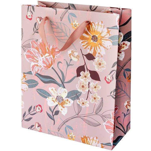 Paper Poetry Geschenktüte Blume mauve 26x32x12cm