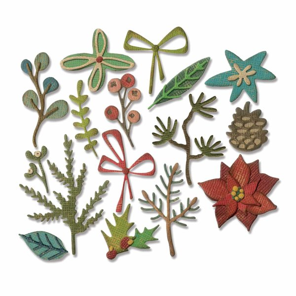 Sizzix Thinlits Die Set Funky Festive by Tim Holtz
