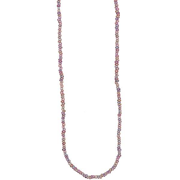 Rico Design Rocailles Kette mehrfarbig lila 70cm