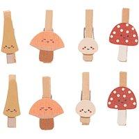 Ohhh! Lovely! Holzclips Pilze Mix bunt 3cm 8 Stück