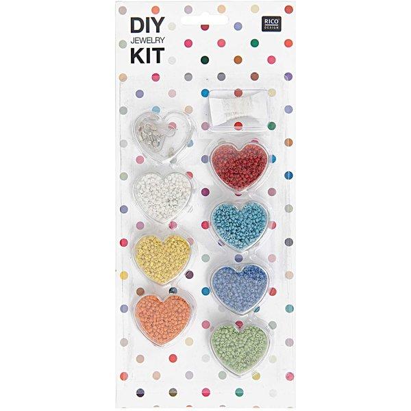 Rico Design DIY Perlenset für Kinder mehrfarbig opak 12x27x1,5cm