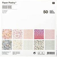 Paper Poetry Origami Crafted Nature 15x15cm 50 Blatt