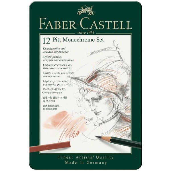 Faber Castell Pitt Monochrome Zeichenset 12teilig