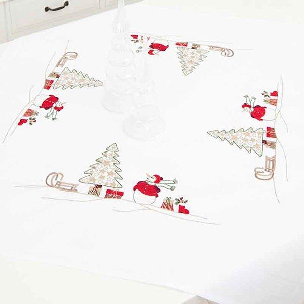 Rico Design Stickpackung Decke Schneemann 80x80cm