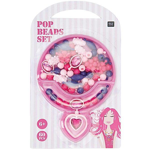 Rico Design Pop Beads Set pink klein