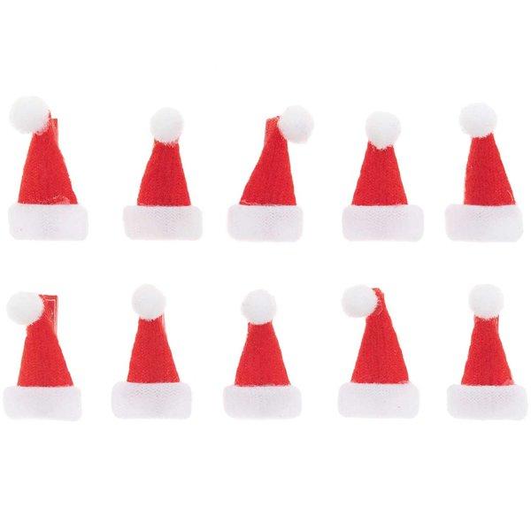 Ohhh! Lovely! Dekoklammern Weihnachtsmützen 2,5cm 10 Stück