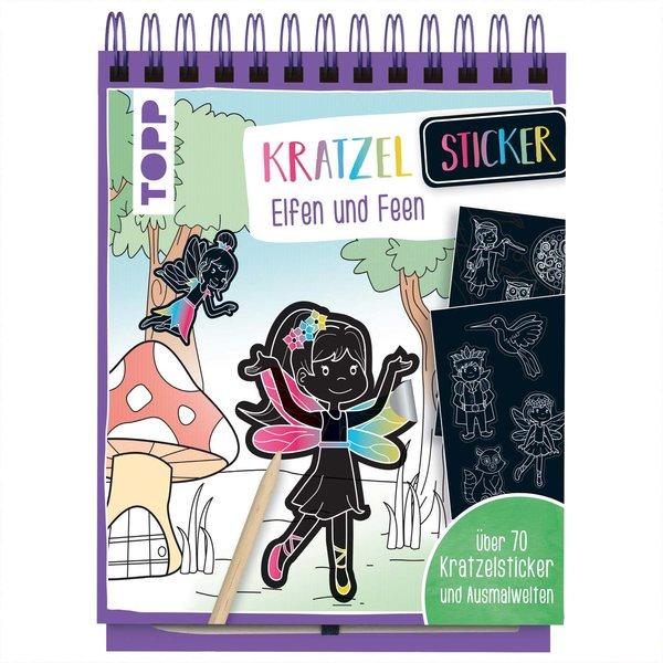 TOPP Kratzel-Stickerbuch Elfen und Feen