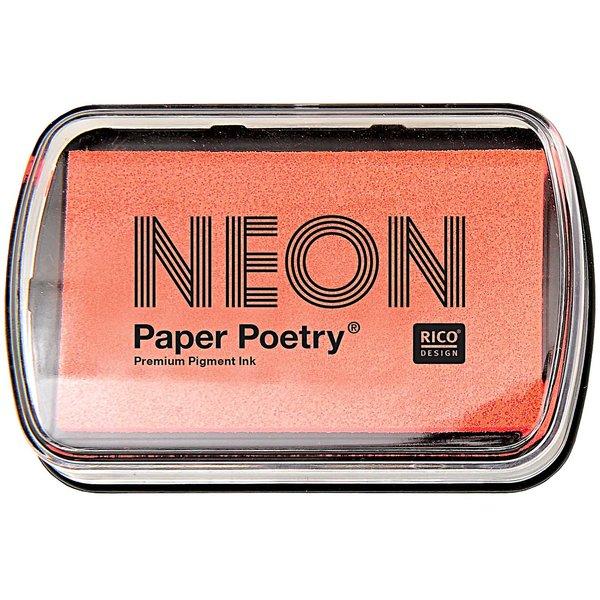 Paper Poetry Stempelkissen neonrot 9x6cm