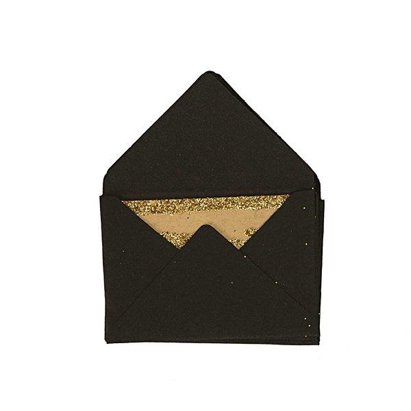 Paper Poetry Mini Briefe schwarz 3x4,5cm 10 Stück