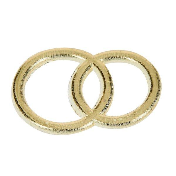 efco Wachsdekor Eheringe gold glänzend 3cm 2 Stück