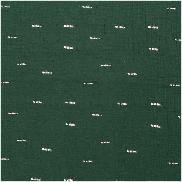 Rico Design Krinkelmusselin-Druckstoff grün Hot Foil 130cm