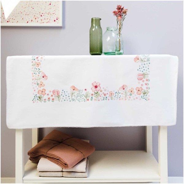 Rico Design Stickpackung Decke Frühlingsblumen 95x95cm