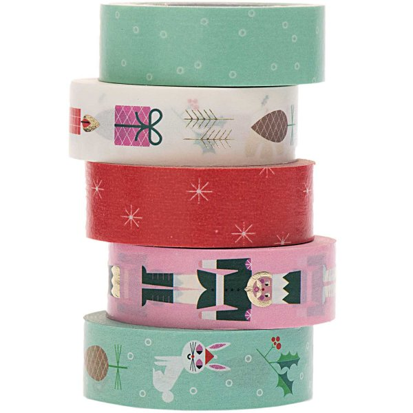Paper Poetry Tape Set Weihnachtsmotive 5teilig