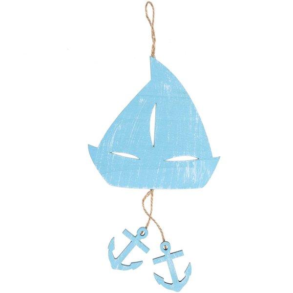 Segelschiff zum Hängen blau 30cm