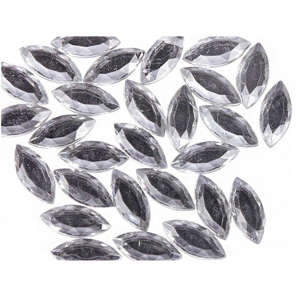 Rico Design Strass Blätter transparent ca. 100 Stück