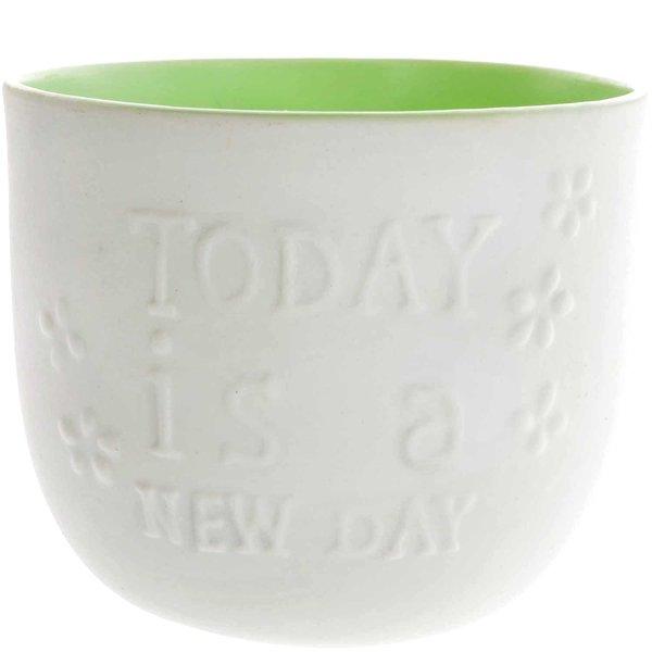 Porzellan-Teelichthalter Today weiß-pastell 8,5x7,5cm