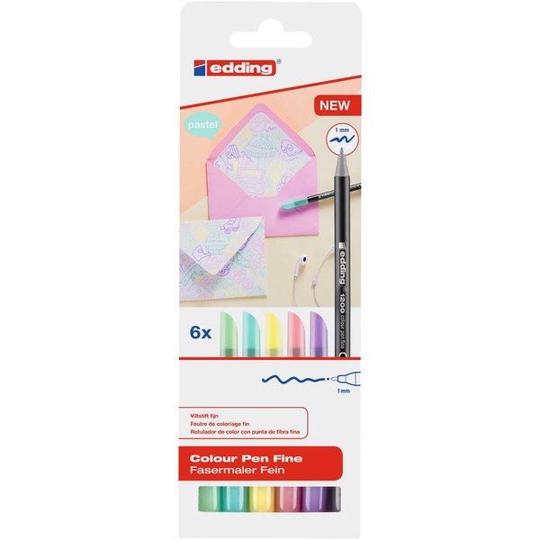 edding 1200 color pastell 6 Stück