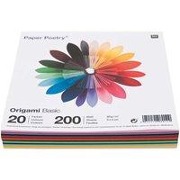 Paper Poetry Origami basic 5x5cm 200 Blatt 20 Farben